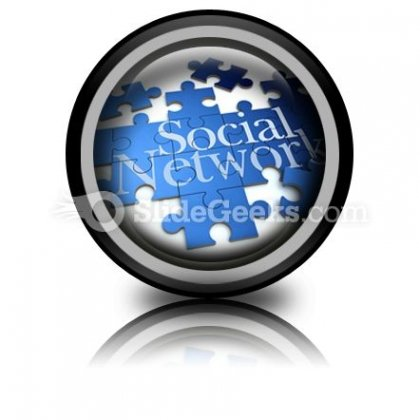 Social Network PowerPoint Icon Cc