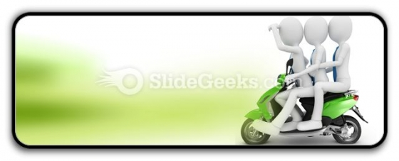 Team On The Scooter PowerPoint Icon R
