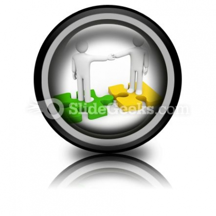 The Successful Agreement Business PowerPoint Icon Cc