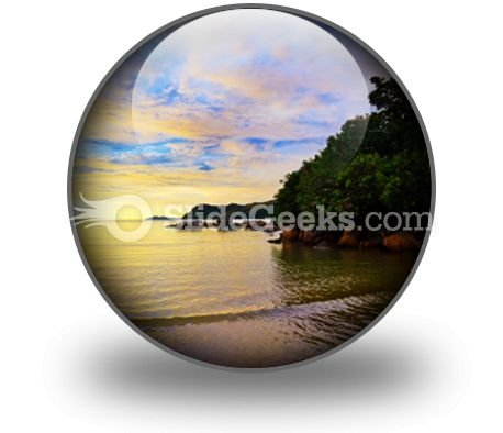 Tropical Sunset Ppt Icon For Ppt Templates And Slides C