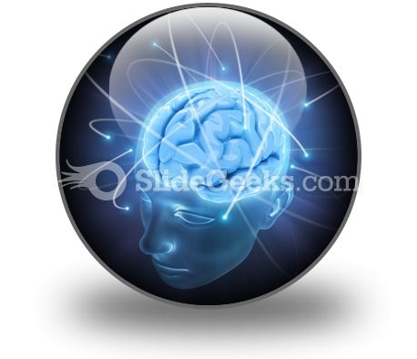 Vivid Brain PowerPoint Icon C