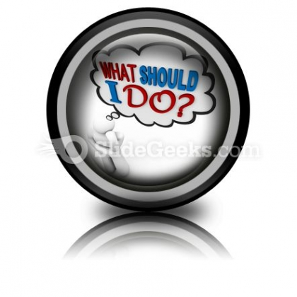 What Should I Do Ppt Icon For Ppt Templates And Slides Cc