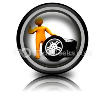 Wheel Garage Ok Ppt Icon For Ppt Templates And Slides Cc