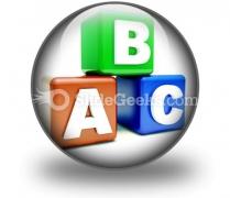 Abc Blocks Education PowerPoint Icon C