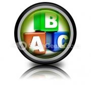 Abc Blocks Education PowerPoint Icon Cc