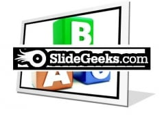 Abc Blocks Education PowerPoint Icon F