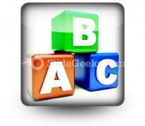 Abc Blocks Education PowerPoint Icon S