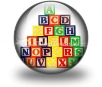 Abc Blocks PowerPoint Icon C