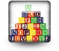 Abc Blocks PowerPoint Icon S