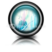 Abstract Business Graph PowerPoint Icon Cc