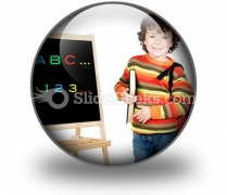 Adorable Child Studying PowerPoint Icon C