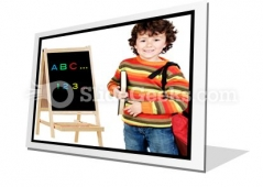 Adorable Child Studying PowerPoint Icon F