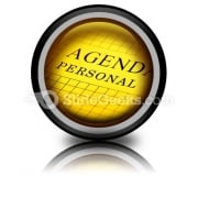Agenda PowerPoint Icon Cc