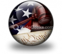 American Justice PowerPoint Icon C