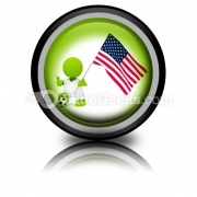 American Soccer PowerPoint Icon Cc