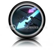 Arrows Breaking PowerPoint Icon Cc