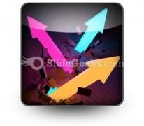 Arrows Breaking PowerPoint Icon S
