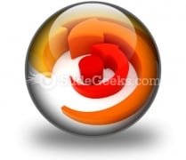 Arrows Spinning PowerPoint Icon C