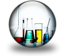 Assorted Laboratory Glassware PowerPoint Icon C