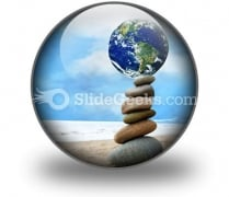 Balanced World PowerPoint Icon C