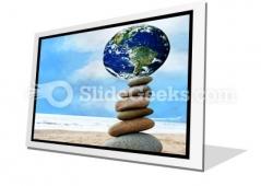 Balanced World PowerPoint Icon F