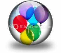 Balloons PowerPoint Icon