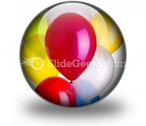 Balloons PowerPoint Icon C