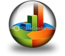 Bar Arrow Chart PowerPoint Icon C