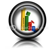 Bar Graph Slashed PowerPoint Icon Cc