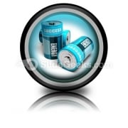 Battery Concept Energy PowerPoint Icon Cc