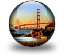 Beach San Francisco PowerPoint Icon C