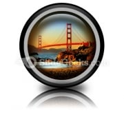 Beach San Francisco PowerPoint Icon Cc