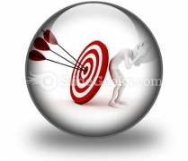 Behind Target PowerPoint Icon C