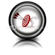 Behind Target PowerPoint Icon Cc