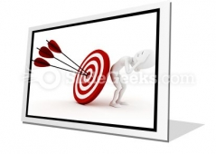 Behind Target PowerPoint Icon F