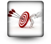 Behind Target PowerPoint Icon S