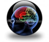 Brain PowerPoint Icon C