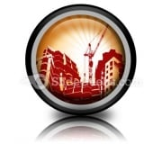 Building Construction PowerPoint Icon Cc
