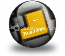 Business Computer Key PowerPoint Icon C
