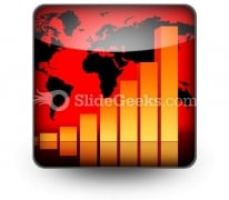 Business Data Graph PowerPoint Icon S