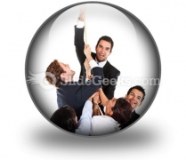 Business Effort PowerPoint Icon C