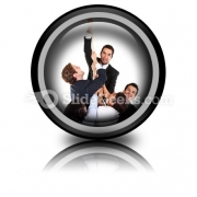 Business Effort PowerPoint Icon Cc