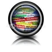 Business Financial Disaster PowerPoint Icon Cc
