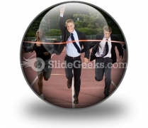 Business Finish Line PowerPoint Icon C