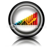 Business Graph With Arrow PowerPoint Icon Cc