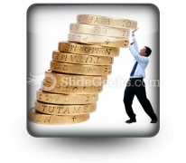 Business Growth Coins PowerPoint Icon S