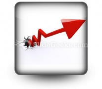Business Growth Success PowerPoint Icon S