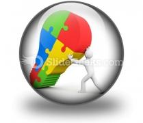 Business Idea Bulb PowerPoint Icon C