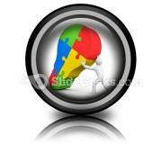 Business Idea Bulb PowerPoint Icon Cc