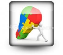 Business Idea Bulb PowerPoint Icon S